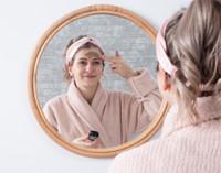 100% Silk Twist Headband - Blush