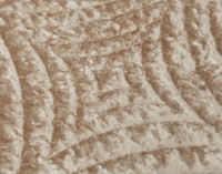 Close up of medallion print on Mercado Oversized Cotton Quilt Set.