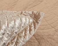Close up of flange on Mercado Oversized Velvet Pillow Shams.