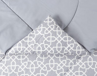 Brockwell Comforter Set features a knife edge seam.