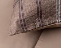 Close up of seam on Salvio Pillow Sham.