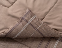 Salvio Comforter Set seam feature a knife edge finish.