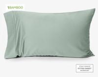 Bamboo Cotton Pillow Case in Jadeite, a pale celadon green.
