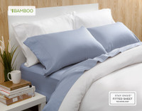 Bamboo Cotton Sheet Set in Marina Blue.