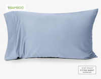 Bamboo Cotton Pillow Case in Marina Blue, a pale blue.