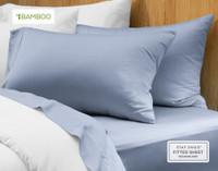 Bamboo Cotton Pillowcase in Marina Blue.
