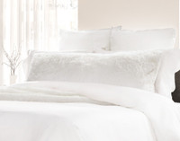 Frosty Lumbar Pillow, featured in White.