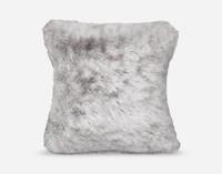 Frosty Euro Sham in Titanium, a soft grey.
