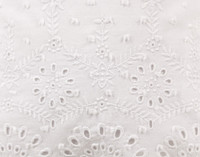 Close up of eyelet design on Rosanna Boudoir Cushion Cover.