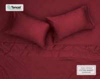 Overhead picture of BeechBliss TENCEL™ Modal Sheet set in Garnet.