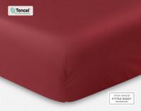 BeechBliss TENCEL™ Modal Fitted Sheet in Garnet red.