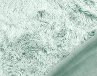 Close up of Frosted Shaggy Throw in Harbour.