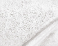 Close up of Frosted Shaggy Throw in White.