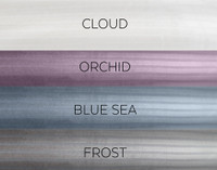 Striped Fleece Blankets are also available in Orchid, Blue Sea, and Frost.