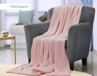Velveteen Fleece Throw in Pink Quartz