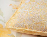Close up of detail on Alyssa Boudoir Cushion Cover.