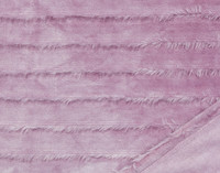 Close up of Fringe Velour Throw in Orchid.