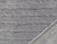 Fringe Velour Throw in Silver.