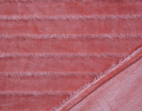Fringe Velour Throw in Terracotta.