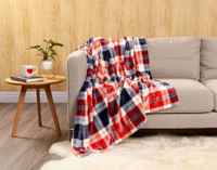 Inverness Plaid Throw in Holly