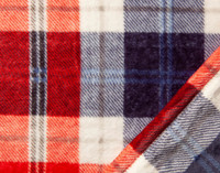 Close up of Inverness Plaid Throw in Holly