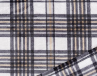 Close up of Inverness Plaid Throw in Greystone