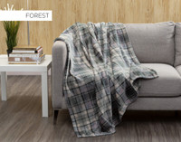 Inverness Plaid Throw in Forest