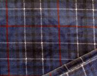 Close up of Inverness Plaid Throw in Indigo
