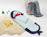 Flannel Sleeping Bag in Shark.
