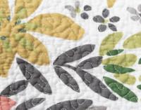 Close up of botanical print.
