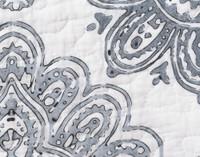 Close up of medallion print.