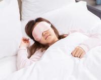 Silk Eyemask in Blush.