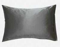 100% Silk Pillowcase in Pewter, a bold grey.