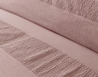 Close up of seersucker stitching on Stonewashed Cotton Duvet Cover Set.