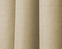 Close up of Sand beige fabric on Linen Look Blackout Drapery Panel