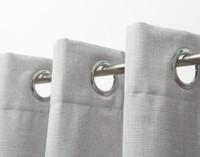 Linen Look Blackout Drapery Panel - Silver