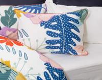 Baja Pillow Sham features piped terracotta edges.