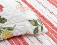 Close up of pillow sham flange.