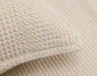 Close up of edges on pillow sham.