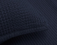 Close up of seam on pillow sham.