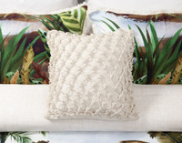 Belize Square Cushion Cover shown with collection.