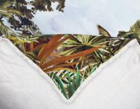 Close up of fringe on Belize Duvet Cover.
