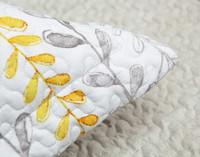 Close up of flange on Leno Pillow Sham.