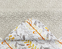 Close up of seam on Leno Coverlet Set.