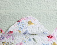 Close up of Larkfield Coverlet Set seams.