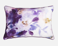 Esprit Pillow Sham, featuring purple and pink impressionist floral print.