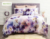 Esprit Duvet Cover, featuring purple and pink impressionist floral print.