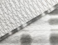 Seam detailing on Novara Cotton Quilt Set.