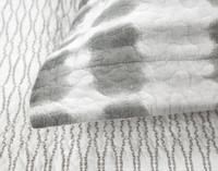 Close up of flange on Novara Cotton Quilt Set.
