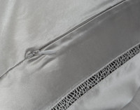 Armoire pillow sham, zipper closure